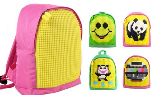 2018 panel pixel classical backpack bag for kids