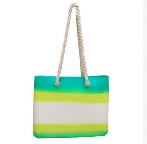 summer colorful silicone beach bag