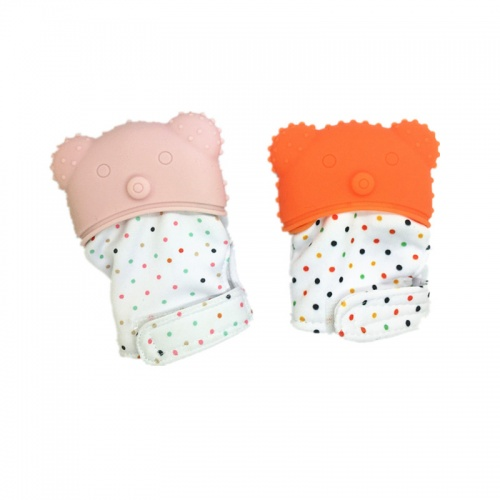 Cute Multi Colors Factory Wholesale Teething Mittens Soft Silicone Baby Teether Glove